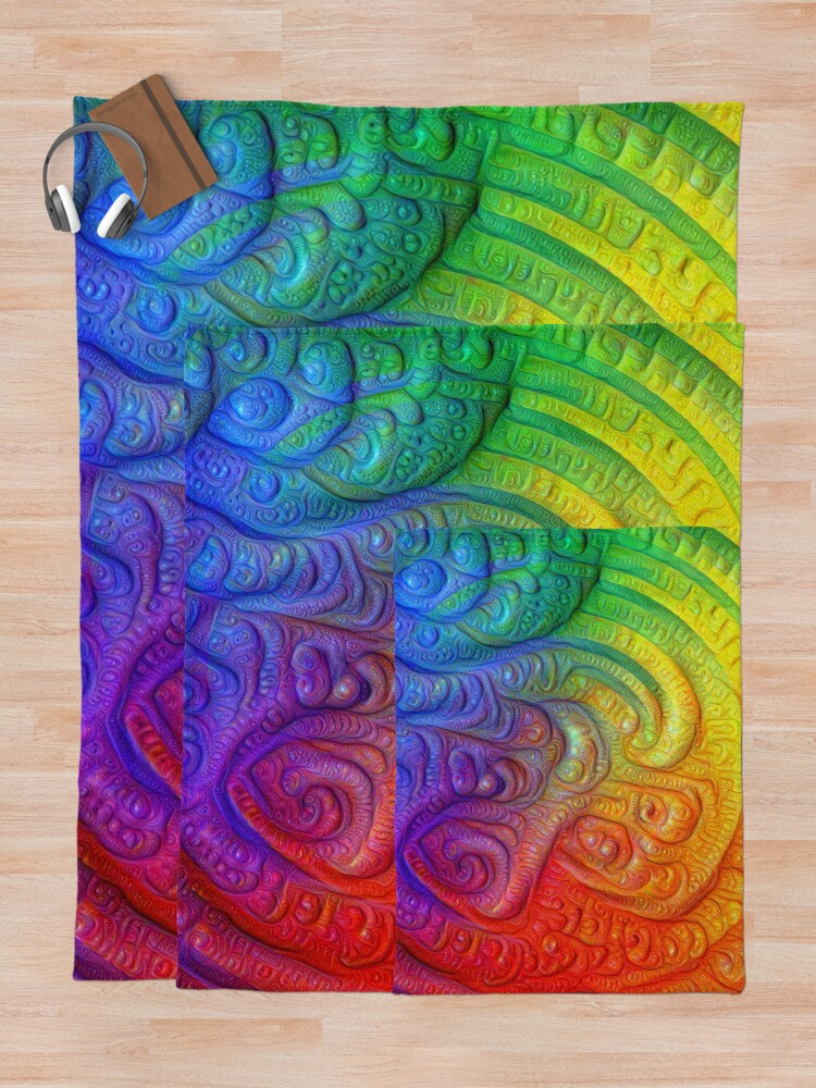 Alternate view of Color Foam #DeepDream Throw Blanket