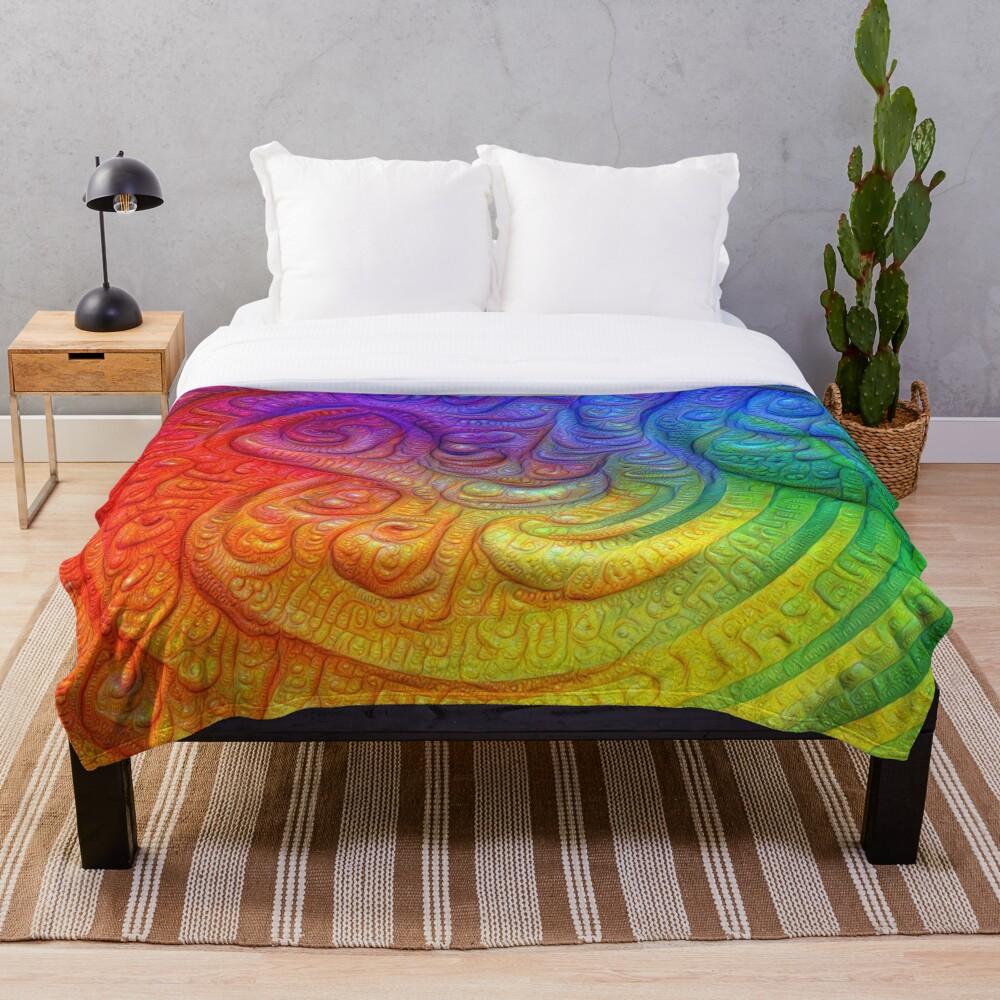 Color Foam #DeepDream Throw Blanket