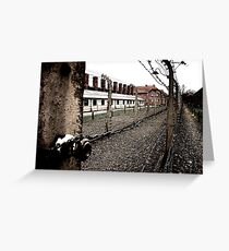 Fence at Auschwitz Greeting Card