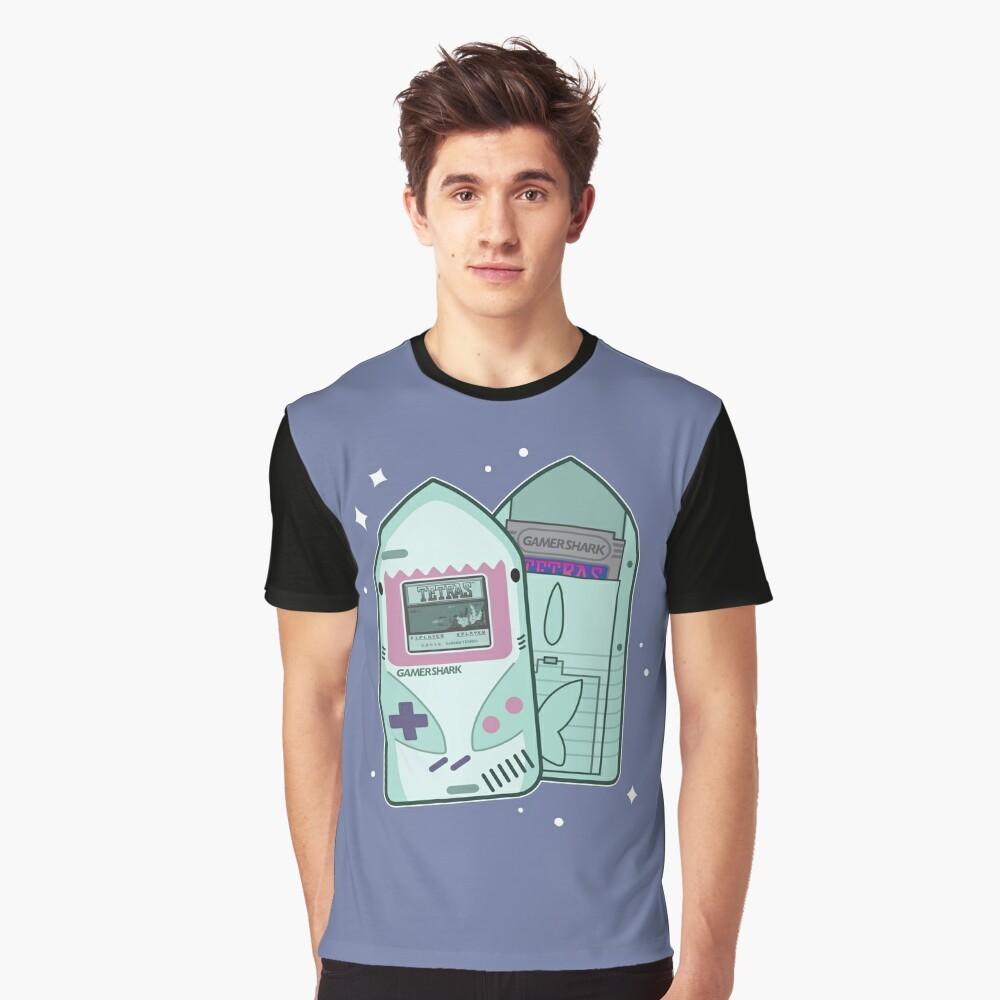 GamerShark Color (Blue) Graphic T-Shirt