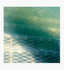 Submerged Metal Stairs  Photographic Print