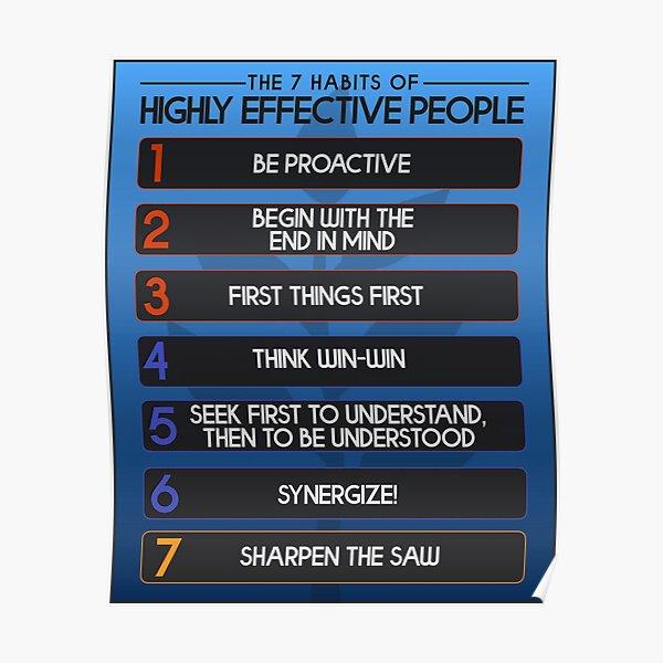 Los 7 hábitos de la motivación de las personas altamente efectivas Póster