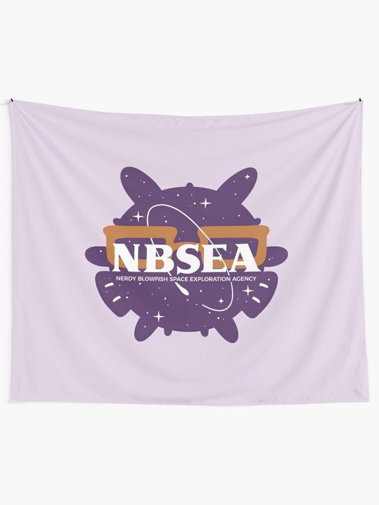 Alternate view of NBSEA Logo Tapestry