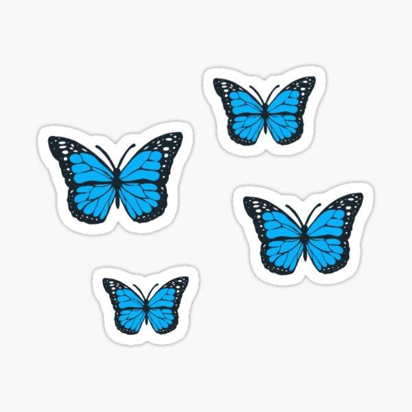blue butterflies Sticker
