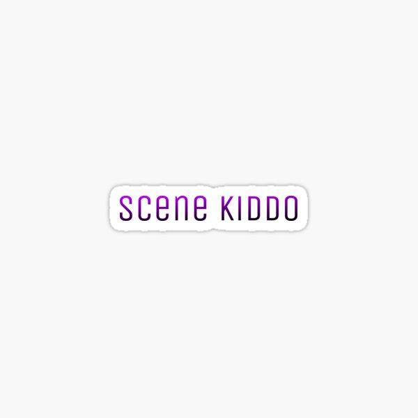 Scene Kiddo PurplexBlack Gradient Text Sticker