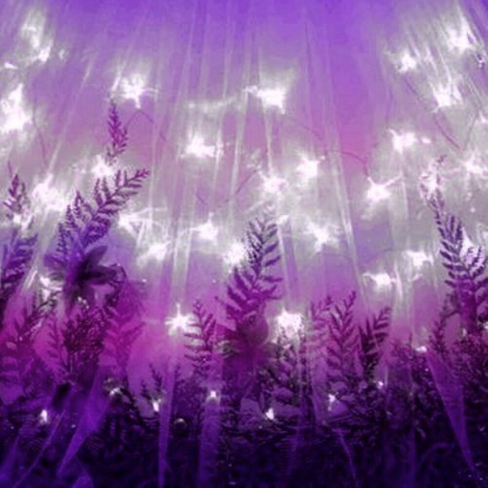 Purple Twinkling Lights & Leaves by HavenDesign