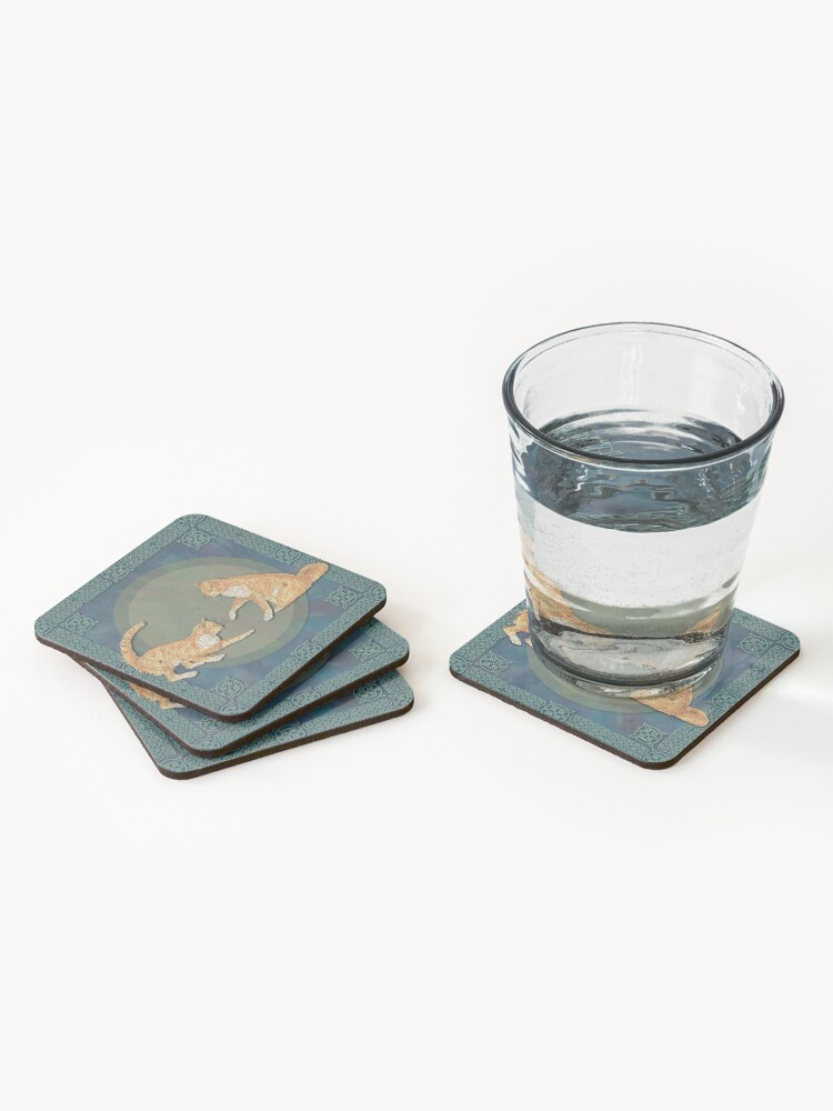 Alternate view of Celtic Cats - Ginger Cats Coasters (Set of 4)