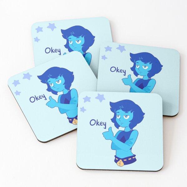 Lapis Lazuli ''Okey'' Coasters (Set of 4)