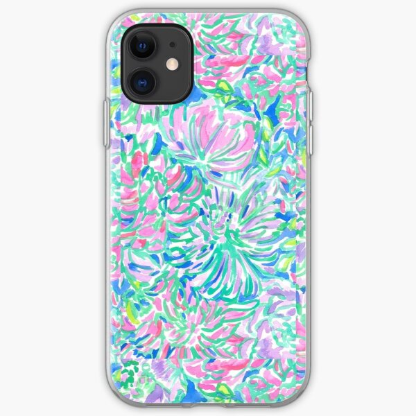 lilly pulitzer watercolor print iPhone Soft Case