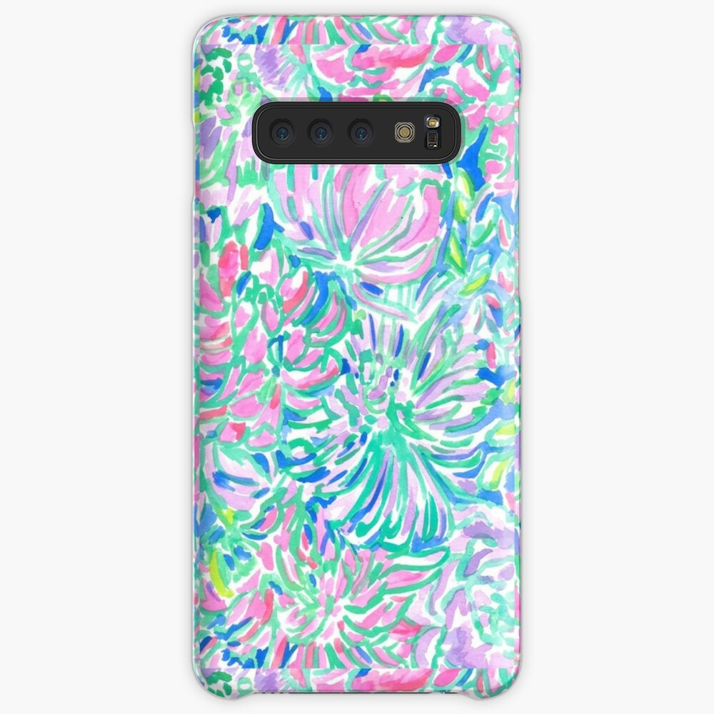 lilly pulitzer watercolor print Case & Skin for Samsung Galaxy