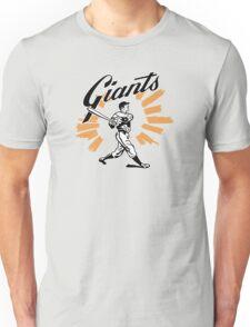 San Francisco Giants Schedule Art from 1958 Unisex T-Shirt