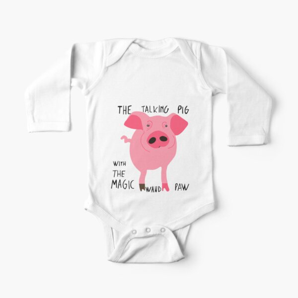 The talking pig Long Sleeve Baby One-Piece