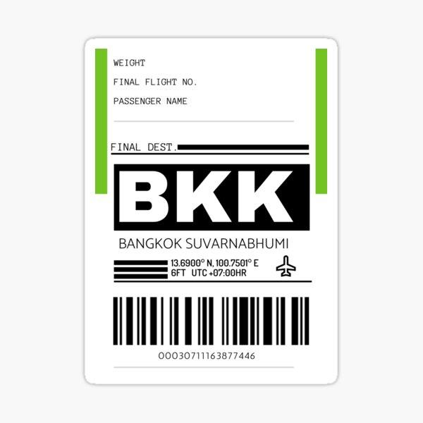 BKK Bangkok Suvarnabhumi International Airport Luggage Tag  Sticker