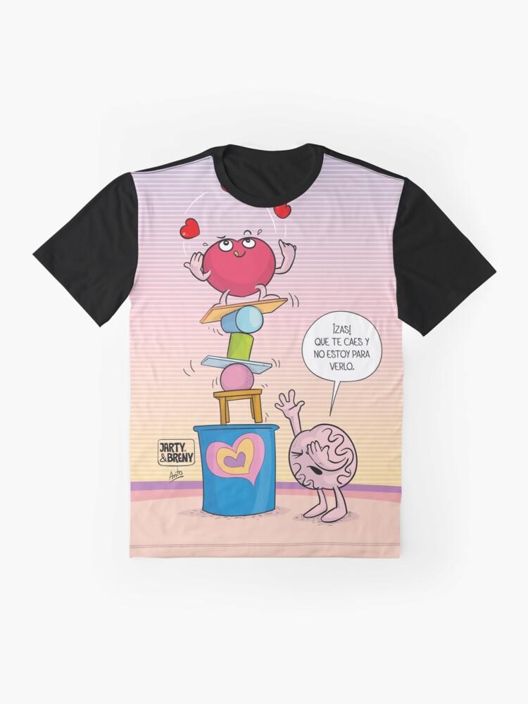 Vista alternativa de Camiseta gráfica J&B - Equilibrista