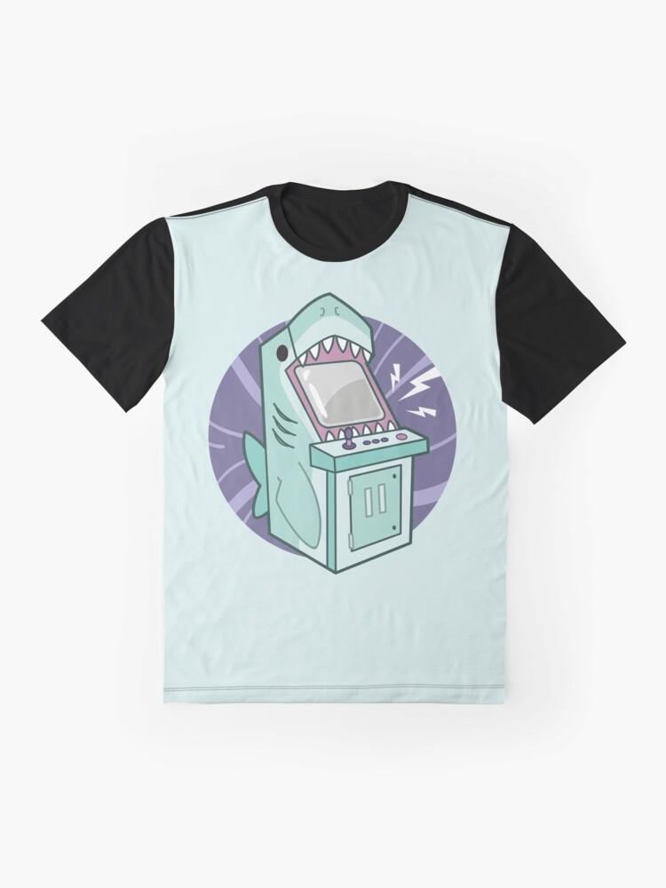 Alternate view of Sharkade Machine Graphic T-Shirt