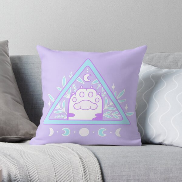 Witchy Cat Paw 01   Nikury Throw Pillow