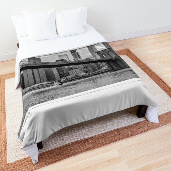 Brooklyn Bridge B&W Comforter
