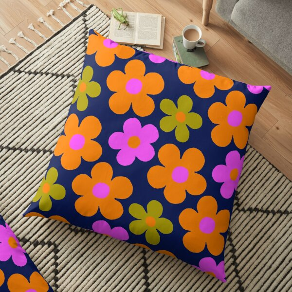 60' vintage flowers Floor Pillow