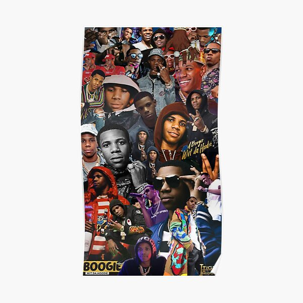 A Boogie Wit Da Hoodie Collage Poster