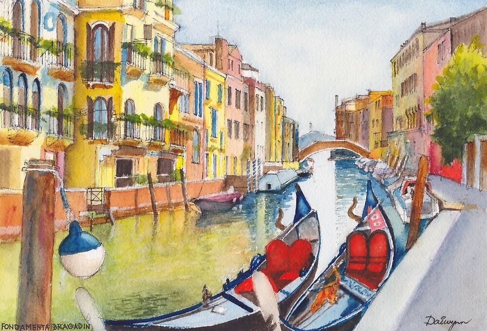 Fondamenta Bragadin, Venezia, Italia by Dai Wynn