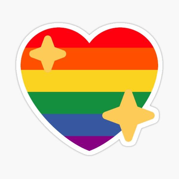 orgullo gay corazón chispeante emoji Pegatina