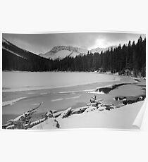 Snowy Elbow Lake Poster