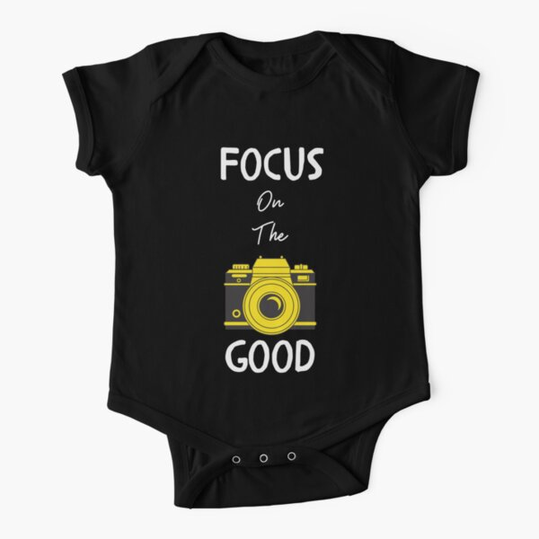Focus On The Good Vintage Camera Short Sleeve Baby One-Piece