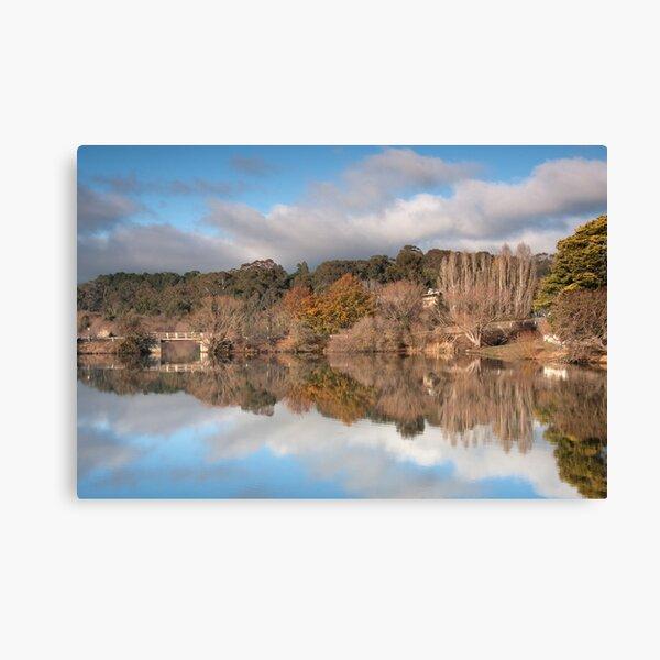 Autumn Bridge, Daylesford Lake Canvas Print