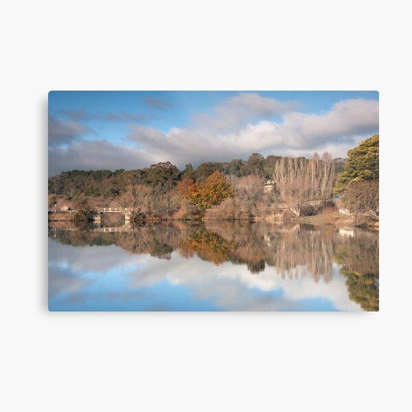 Autumn Bridge, Daylesford Lake Metal Print