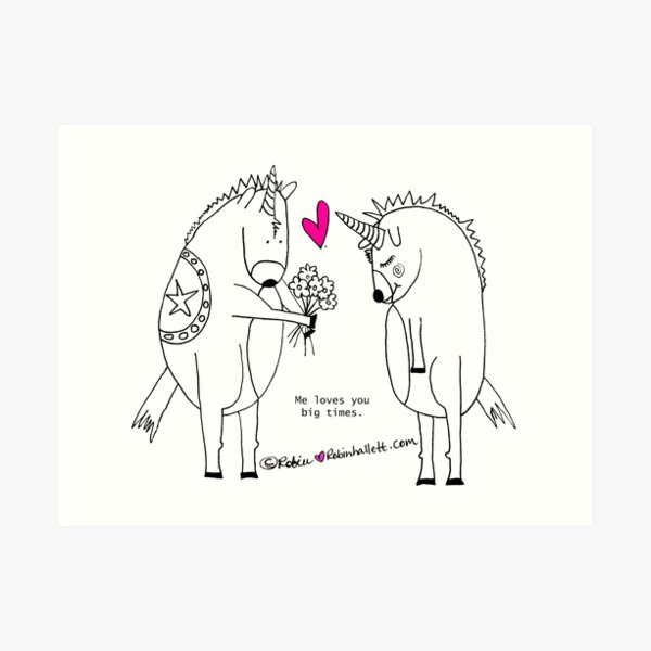 Unicorns in Love  Art Print