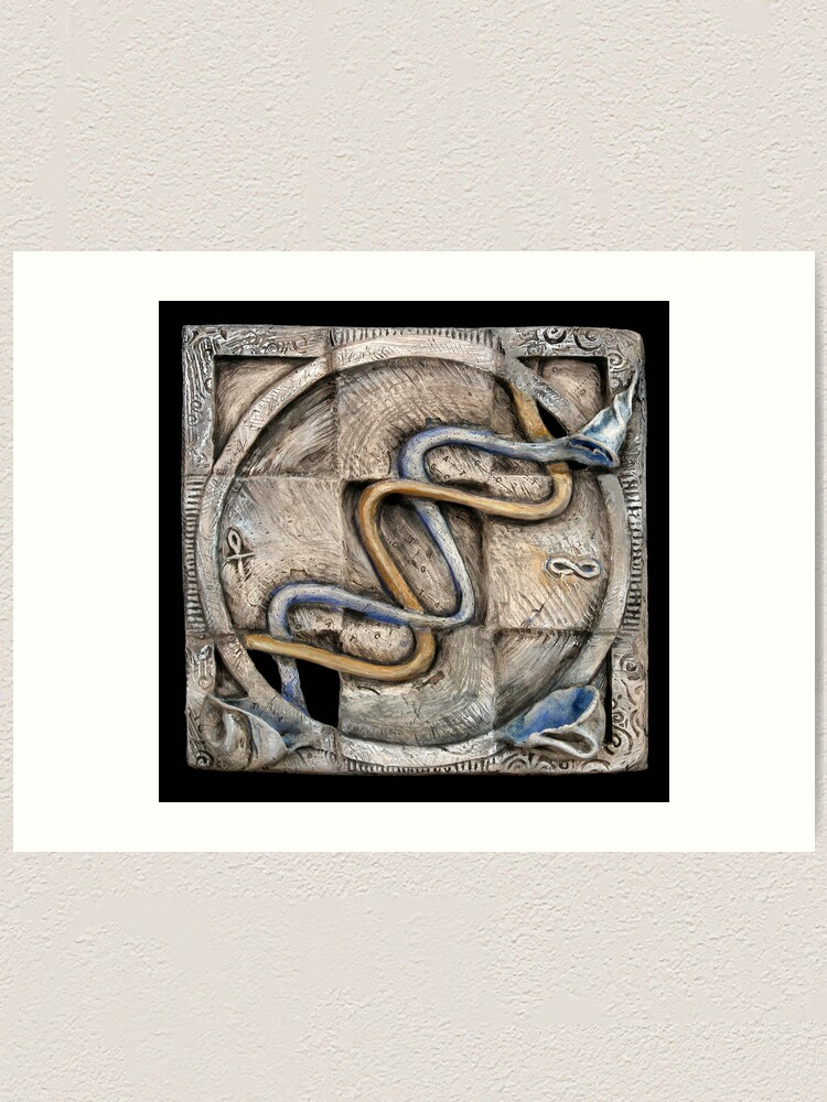 Alternate view of Spiral two: evolving currents Art Print
