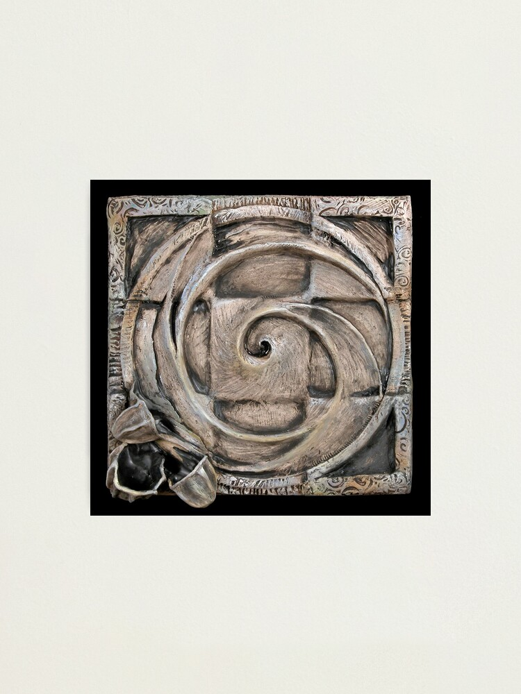Alternate view of Spiral one: unified source Photographic Print