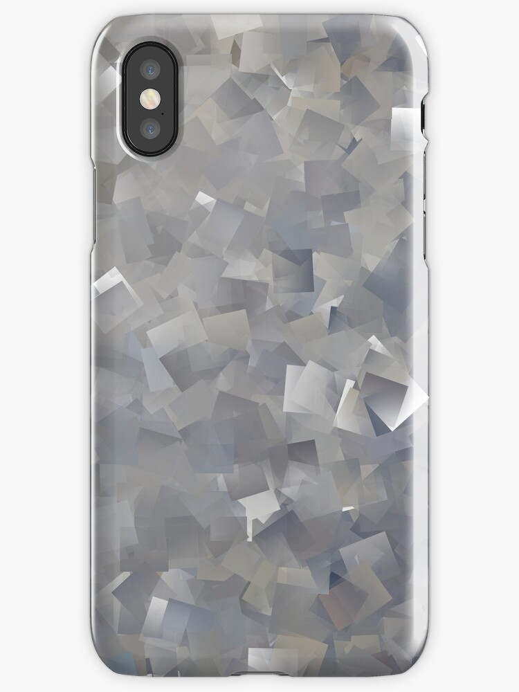 Cubes in Shades of Gray - phone skin by Scott Mitchell