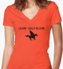 Camiseta entallada de cuello en V Campamento mestizo