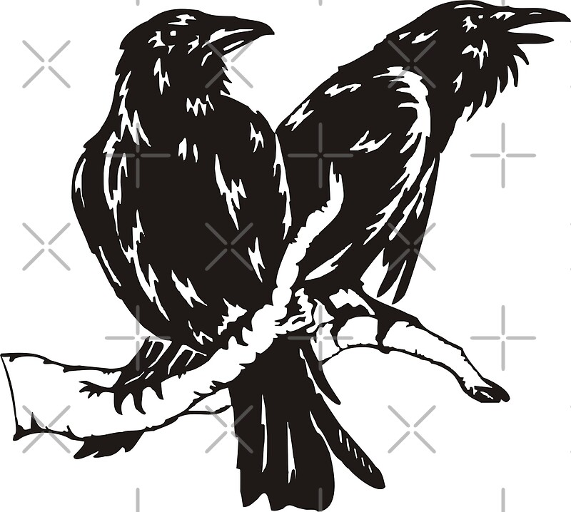 u0026quot;Hugin and Muninu0026quot; Art Prints by wikingershirts : Redbubble