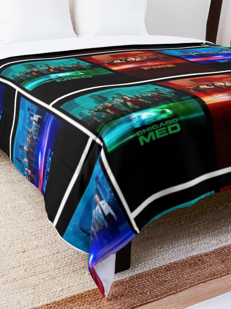 Alternate view of Chicago fire med PD Chicago one Comforter