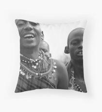 Maasai Tribesmen Throw Pillow