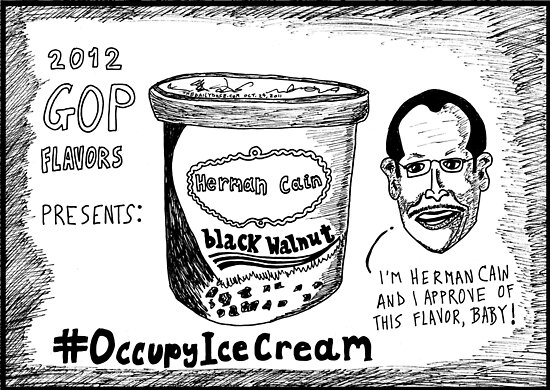 Herman Cain is Black Walnut cartoon by bubbleicious