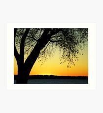 Sandhills Sunset 1 Art Print
