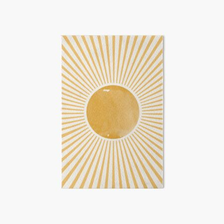 Retro Sun Mid Century Modern Art Board Print
