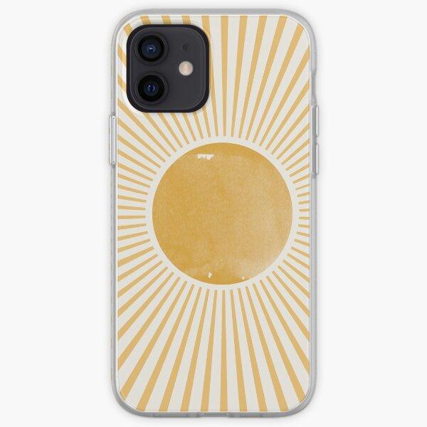 Retro Sun Mid Century Modern iPhone Soft Case