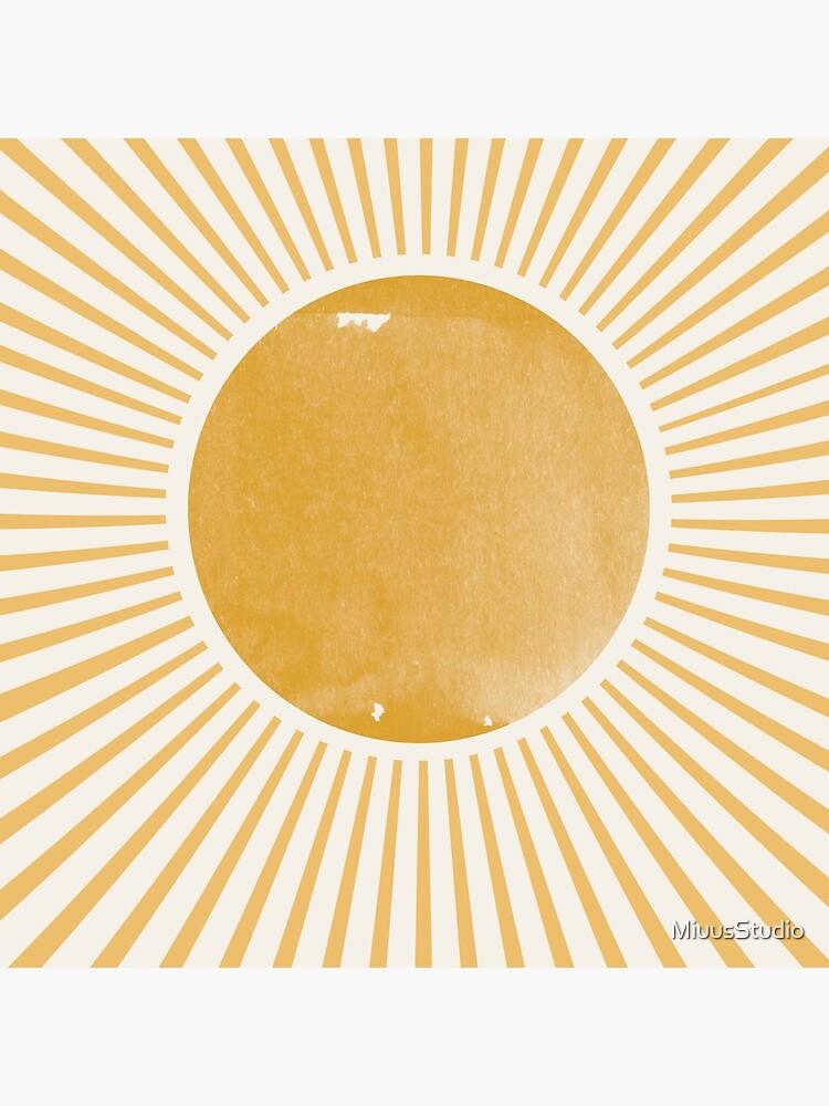 Retro Sun Mid Century Modern by MiuusStudio