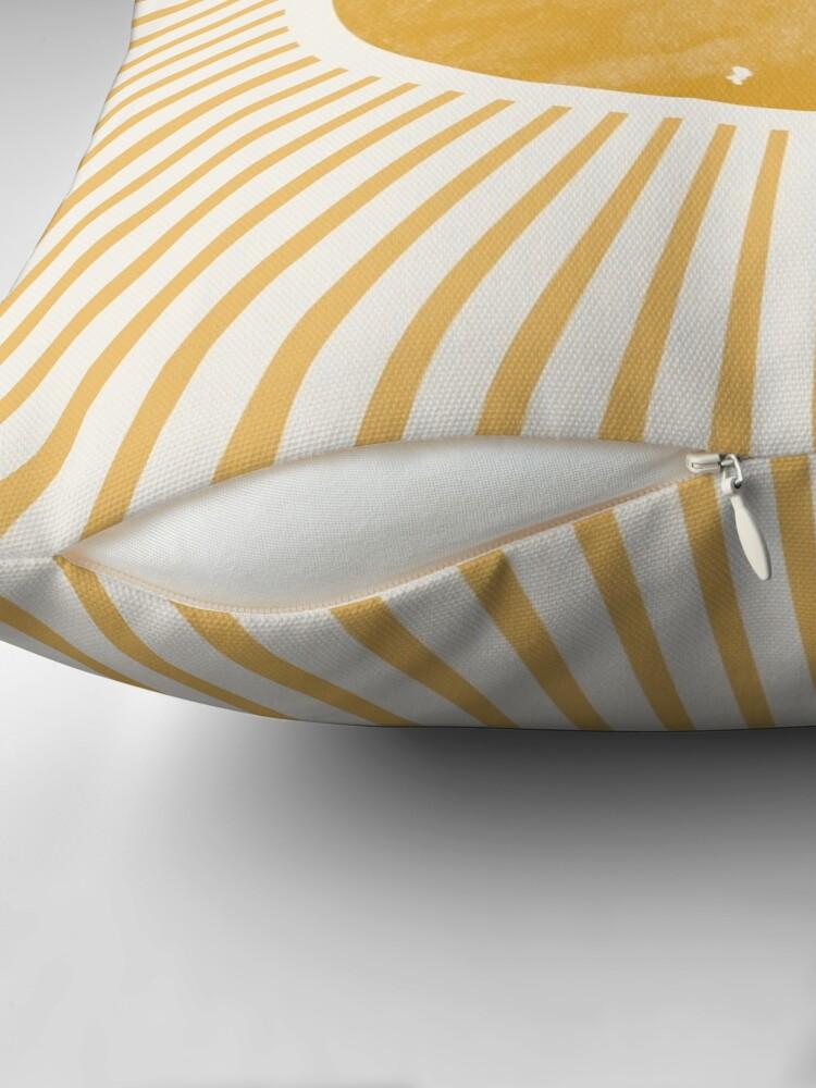 Alternate view of Retro Sun Mid Century Modern Throw Pillow