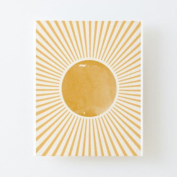 Retro Sun Mid Century Modern Aufgezogener Druck auf Leinwandkarton