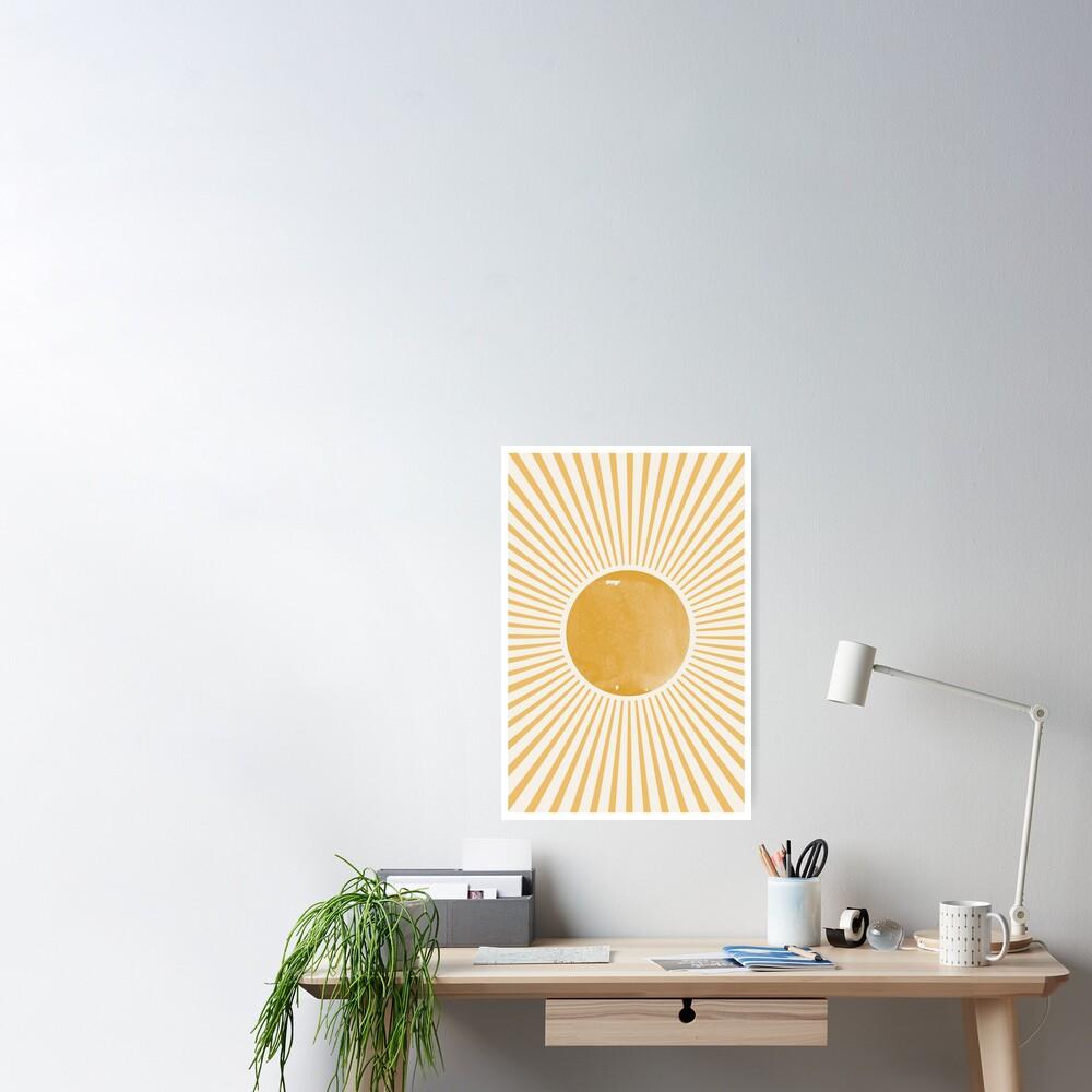 Retro Sun Mid Century Modern Poster
