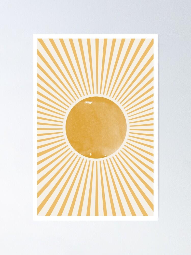Alternate view of Retro Sun Mid Century Modern Poster