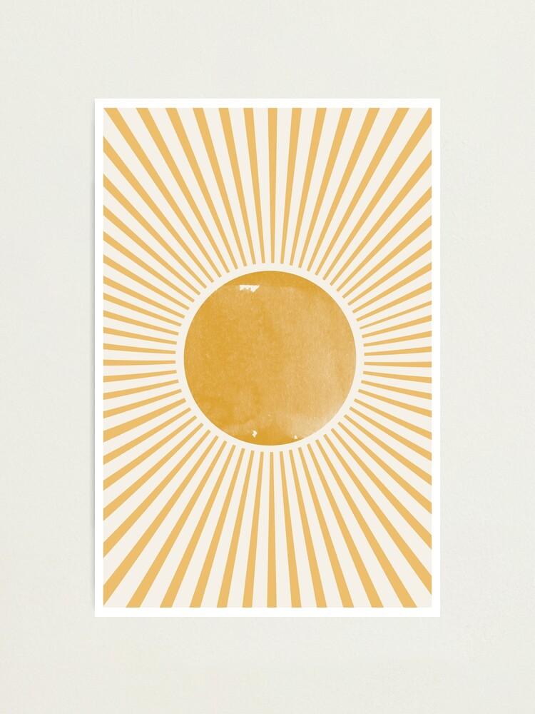 Alternate view of Retro Sun Photographic Print