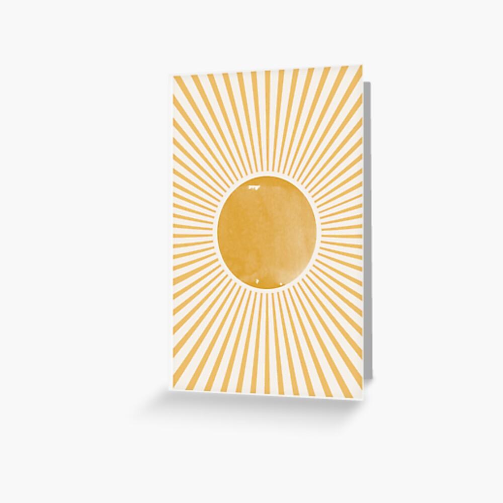 Retro Sun Mid Century Modern Greeting Card