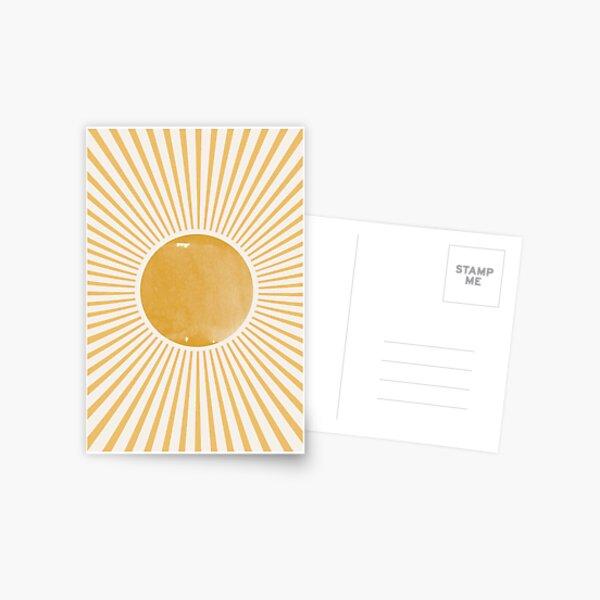 Retro Sun Mid Century Modern Postcard