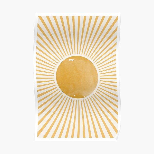 Retro Sun Poster